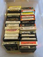 26 8-TRACK LOT 1970S CLASSIC ROCK DISCO SOUL POP XMAS EAGLES ERIC CLAPTON VTG