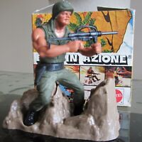 1974 MATTEL Italian HEROES IN ACTION ARMY Man MACHINE GUNNER Soldier In Box Rare