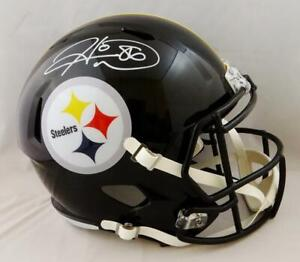 Hines Ward Autographed Pittsburgh Steelers F/S Speed Helmet- JSA W Auth *White