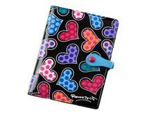 Romero Britto Multi Heart Passport Holder ** black  **