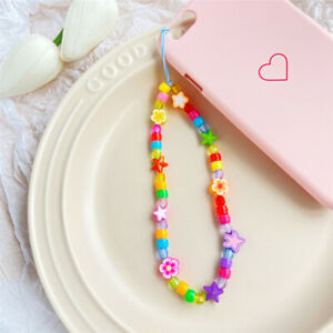 Charm Mobile Phone Accessory Straps Neck Unisex Phone Straps Bead Hanging Chain