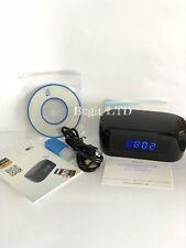 Reloj Despertador Espía Cámara WIFI IR cámara pequeña alertas de movimiento 1080p Full Hd
