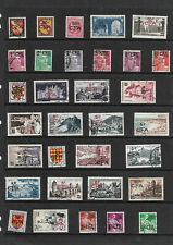 FRENCH COLONY-REUNION-2 SHEETS OF USED - ALL DIFFERENT.