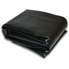 "9V Black Hood Fitted Pool Table Cover 65""x115"" Double Sewn Seams"