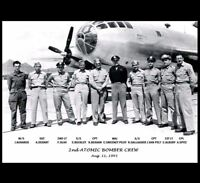 Nagasaki Atomic Bomb B-29 Bomber Crew PHOTO, Dropped FAT MAN Nuclear, Bock's Car