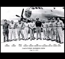 Nagasaki Atomic Bomb B-29 Bomber Crew PHOTO, Dropped FAT MAN Nuclear, Bock's Car