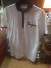 👀👕Firetrap Men's/boys XXL Short Sleeve Slim Fit Optic White Polo Shirt👕  BNWT