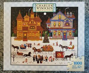 RARE Milton Bradley Charles Wysocki VICTORIAN CHRISTMAS 1000 pc puzzle COMPLETE