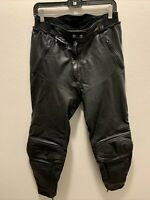 Bikers Choice MQP 42 Womens Black Leather Motorcycle Padded Pants Size 28