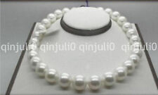 """18"""" Elegant 12-13mm natural south sea white round pearl necklace 14k JN1072"""
