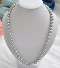 9-10MM TAHITIAN GRAY PEARL NECKLACE 22inch 14K Yellow Gold Clasp