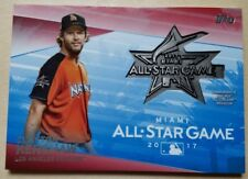 CLAYTON KERSHAW Red 2017 All-Star Medallion Card #18/25 - 2017 Topps Series 1