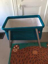 Babyhome Dream Little Cot aqua Baby Bassinet Travel Crib
