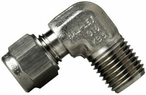 """769L-SS-1/4-1/4 Stainless Steel Male Elbow NPT - Tube O/D 1/4"""" Thread 1/4"""""""