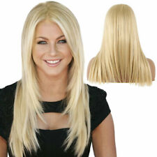42CM Women's Blonde Wig Ombre Long Brown Gold Straight Black Synthetic Wigs CA
