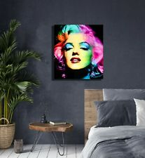 Marilyn Monroe  Framed Canvas Wall Art (Ready To Hang) Home Decor Poster Print