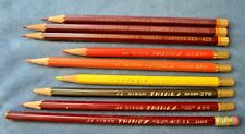 Vintage Pencil Lot 9 Dixon Thinex Carmine Red Purple Blueprint