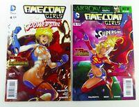 DC AME-COMI GIRLS (2013) #4-5 SUPERGIRL + POWERGIRL VF/NM (9.0) Ships FREE!