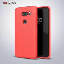 For LG G6/V30/Q6 Luxury Protection Shockproof Matte PU Leather Soft Back Case
