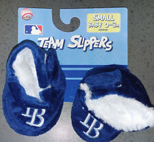 MLB Tampa Bay Rays Infant/Baby/Newborn Slippers/Booties/Shoes 0-3 Month NEW
