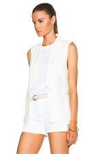 Haute Hippie  White Sleeveless Blazer Jacket  Vest  $445.00    Size S