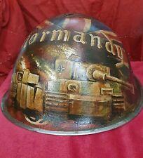 WW2 BRITISH   NORMANDY MKIII HELMET  D DAY  BATTLEFIELD RELIC,