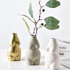 Nude Female Body Vase Ceramic Art Tabletop Flower Pot Nordic Modern Art Decor