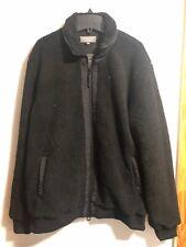 Primark Men Sherpa Teddy Fleece Plush Black Bomber Jacket Size M or L