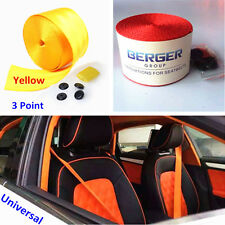 Yellow Harness Racing Front 3 Point Safety Retractable Van Car SUV Seat Lap Belt