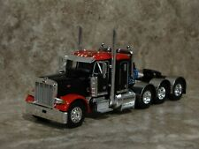 DCP 1/64 Black Red Tri-Axle Peterbilt Semi Truck Farm Toy