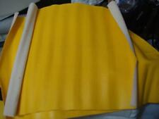 Vintage Vinyl Upholstery Fabric Remnant Canary Yellow 19 x 20 inches 2 pieces