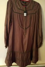 Ladies Embroidered Tunic Top Colour Clay New. Size 14 M&co.