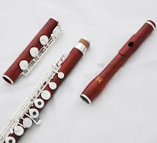 Concert European style headjoint C# Trill Flute Rose Wooden Body B foot Split E