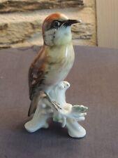 Oiseau porcelaine ALLEMANDE  signé DE SAXE Karl Ens N°2