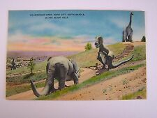 Dinosaur Park in the Black Hills Rapid City South Dakota Vintage Unused Postcard