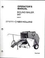 New Holland 847 Round Baler Operator Manual 42084711