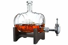 Wine Decanter  Drink Dispenser for Wine, Whiskey and Brandy - Barrel