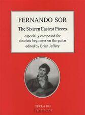 Fernando Sor The Sixteen Easiest Pieces Easy Classical Guitar Music Book