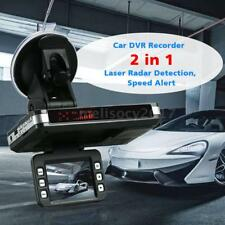 2In1 Car Dash Camera DVR Recorder+Radar Laser Speed Detector G-Sensor Alert P0D8