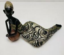 "African Woman Tribal Figurine Sculpture 6.5"" Tall"