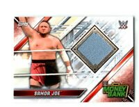 WWE Samoa Joe 2019 Topps Raw Event Used Money In The Bank Mat Relic Card
