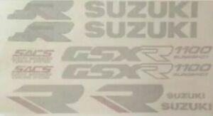 SUZUKI GSXR1100K 1989 FOR BLACK/RED BIKE VERSION DECAL KIT
