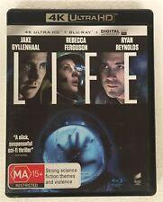 LIFE (2017) 4K ULTRA HD + Blu-ray Jake Gyllenhaal RYAN REYNOLDS oz seller 4K UHD