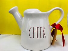 New listing Rae Dunn Cheer Ceramic Watering Can Holiday Decor New Gift