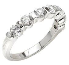 7 Diamond Wedding Ring Anniversary Band 1.13 carat F color VS clarity 0.16 carat
