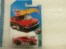 HOT WHEELS 2017 027/365 LC TOONED 4/10 '68 MUSTANG RED LONG CARD