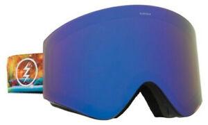 Electric Unisex EGX Snowboard Ski Goggles - Bald Eagle Strap/Blue Chrome Lens