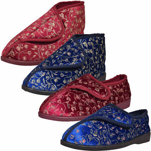 Ladies Slipper Bootie Shoes Diabetic Orthopaedic Wide Fit Fully Washable Boots