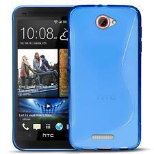 Handy Hülle für HTC One X Silikon Case Ultra Slim Cover Schutz Hülle Tasche Blau