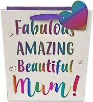 Mother's Day Gift Bag Fabulous Amazing Mum Love Heart Tag By Eurowrap L / M
